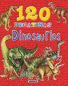 120 PEGATINAS DE  DINOSAURIOS (ROJO)