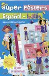 SUPER POSTER ESPAÑOL-INGLES. APRENDIZAJE BASICO ¡CON 8 LÁMINAS!