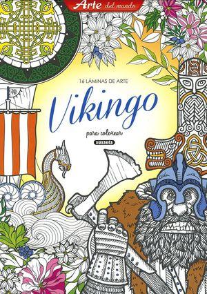 VIKINGO. 16 LAMINAS DE ARTE PARA COLOREAR