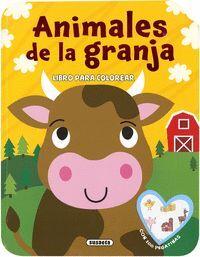 ANIMALES DE LA GRANJA. LIBRO PARA COLOREAR CON 100 PEGATINAS