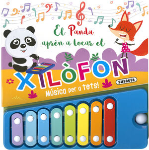 EL PANDA APRÈN A TOCAR EL XILOFON