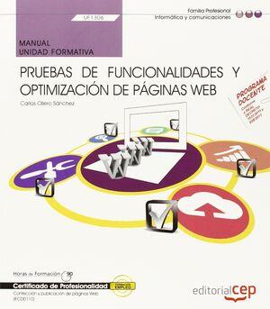 MANUAL. PRUEBAS DE FUNCIONALIDADES Y OPTIMIZACIÓN DE PÁGINAS WEB (UF1306). CERTI