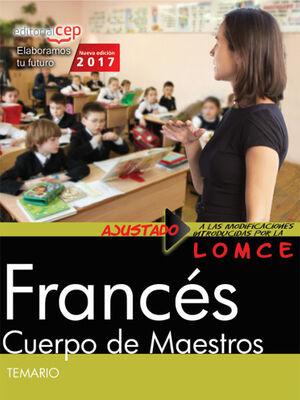 CUERPO DE MAESTROS. FRANCÉS. TEMARIO