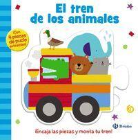 EL TREN DE LOS ANIMALES. CON 4 PIEZAS DE PUZLE EXTRAIBLES