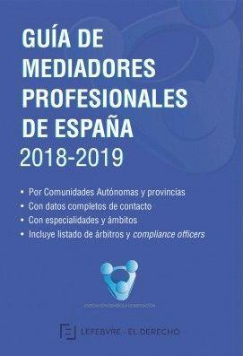 GUÍA DE MEDIADORES PROFESIONALES DE ESPAÑA 2018-2019