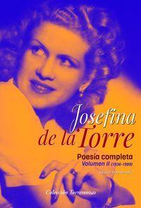 JOSEFINA DE LA TORRE. POESIA COMPLETA VOL.2