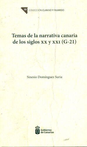TEMAS NARRATIVA CANARIA SIGLOS XX Y XXI (G21)