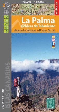 LA PALMA. CALDERA DE TABURIENTE 1:25.000 (2 MAPAS)