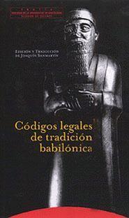 CODIGOS LEGALES DE TRADICION BABILONICA