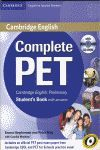 COMPLETE PET - STUDENT`S KEY WITH ANSWERS + CD