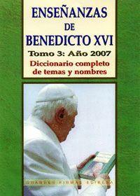 ENSEÑANZAS DE BENEDICTO XVI T.3