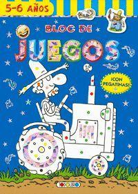 BLOC JUEGOS PEGATINAS (GRANJA) 5-6 AÑOS