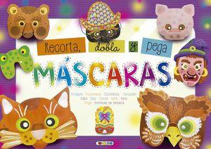 MASCARAS. RECORTA, DOBLA Y PEGA