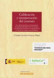 CALIFICACION E INTERPRETACION DEL CONTRATO