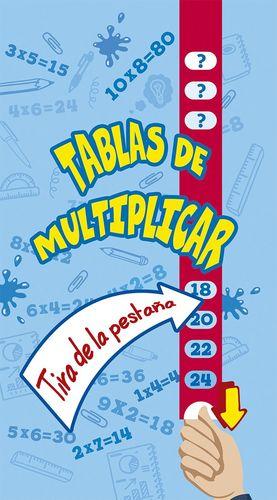 TABLAS DE MULTIPLICAR. TIRA DE LA PESTAÑA
