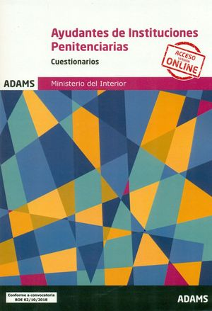 AYUDANTES INSTITUCIONES PENITENCIARIAS. CUESTIONARIOS 2018