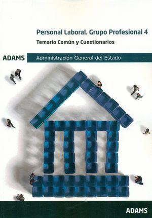 PERSONAL LABORAL.GRUPO PROFESIONAL 4. TEMARIO COMUN Y CUEST