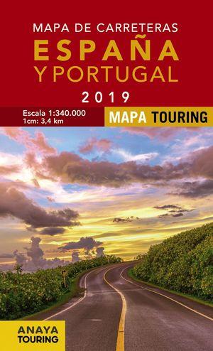 MAPA CARRETERAS DE ESPAÑA Y PORTUGAL 2019