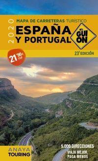 GUIÓN 2020. ESPAÑA Y PORTUGAL MAPA DE CARRETERAS TURÍSTICO