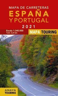 MAPA DE CARRETERAS DE ESPAÑA Y PORTUGAL 2021 - 1:340.000