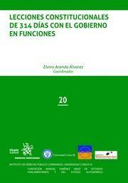 LECCIONES CONSTITUCIONALES DE 314 DÍAS CON EL GOBIERNO EN FUNCIONES