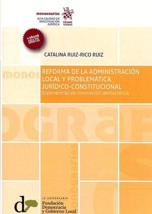 REFORMA DE LA ADMINISTRACIÓN LOCAL Y PROBLEMÁTICA JURÍDICO-CONSTITUCIONAL