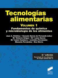 TECNOLOGÍAS ALIMENTARIAS. VOL 1