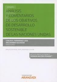 ANALISIS Y COMENTARIOS DE LOS OBJETIVOS DE DESARROLLO SOSTENIBLE DE LAS NACIONES UNIDAS