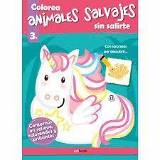 COLOREA SIN SALIRTE ANIMALES SALVAJES (+3)