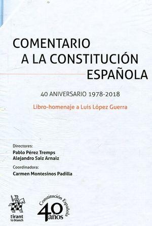 COMENTARIO A LA CONSTITUCION ESPAÑOLA (2 VOL.)