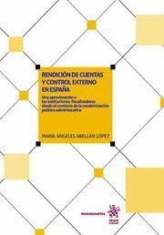 RENDICION DE CUENTAS Y CONTROL EXTERNO EN ESPAÑA