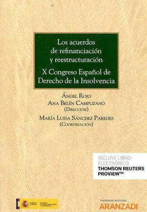 LOS ACUERDOS DE REFINANCIACIÓN Y REESTRUCTURACIÓN