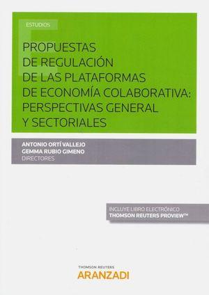 PROPUESTAS DE REGULACION DE LAS PLATAFORMAS DE ECONOMIA COLABORATIVA