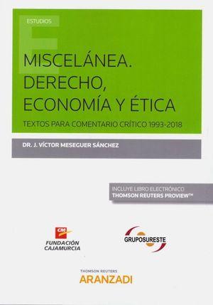 MISCELANEA. DERECHO, ECONOMIA Y ETICA
