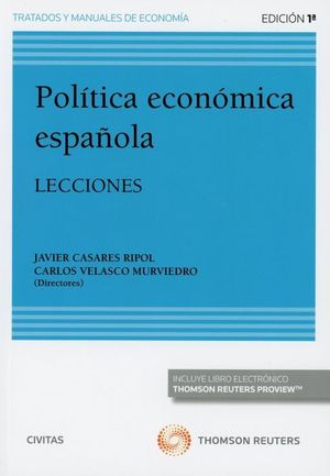 POLITICA ECONOMICA DE ESPAÑA. LECCIONES