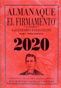 ALMANAQUE EL FIRMAMENTO 2020 CALENDARIO ZARAGOZANO