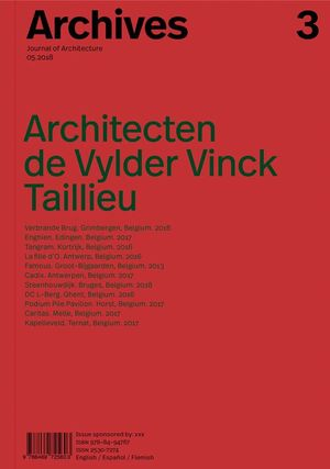 ARCHIVES 3 ARCHITECTEN THE VYLDER VINCK TAILLIEU