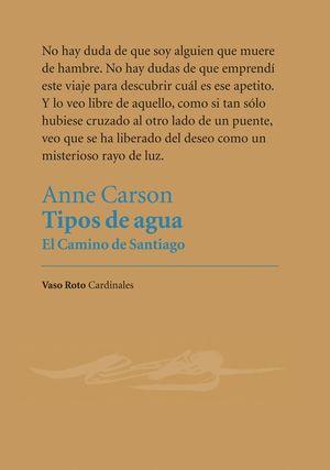 TIPOS DE AGUA. EL CAMINO DE SANTIAGO