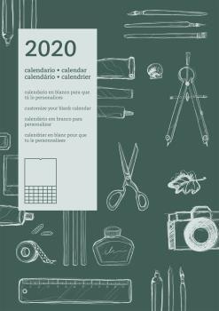 2020 CALENDARIO PARED INTERNACIONAL (EN BLANCO)