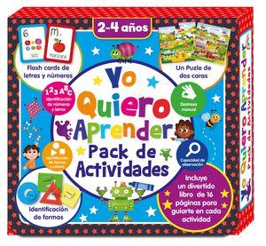 YO QUIERO APRENDER. PACK DE ACTIVIDADES. 2-4 AÑOS