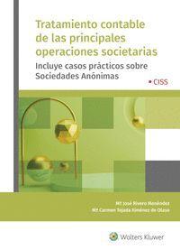TRATAMIENTO CONTABLE DE LAS PRINCIPALES OPERACIONES SOCIETARIAS