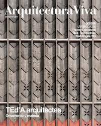 ARQUITECTURA VIVA N.220 TED'A ARQUITECTES ORNAMENTO Y MATERIA