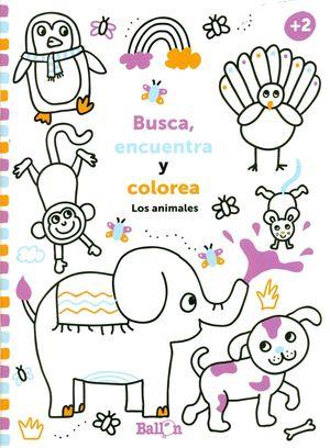 LOS ANIMALES. BUSCA, ENCUENTRA Y COLOREA +2