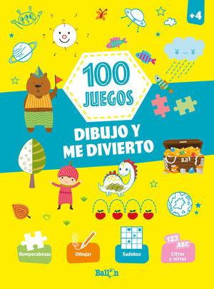 100 JUEGOS. DIBUJO Y ME DIVIERTO. + 4 AÑOS