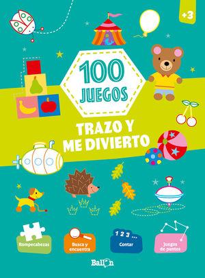 100 JUEGOS. TRAZO Y ME DIVIERTO. + 3 AÑOS