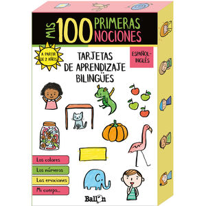 MIS 100 PRIMERAS NOCIONES - TARJETAS DE APRENDIZAJE BILINGÜES (CAJA)
