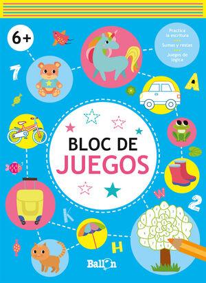 BLOC DE JUEGOS. 6 AÑOS