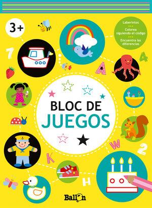 BLOC DE JUEGOS. 3 AÑOS (AMARILLO)