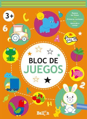 BLOC DE JUEGOS. 3 AÑOS (NARANJA)