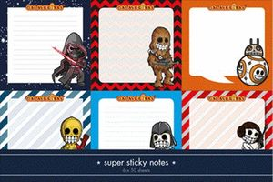 SPACE WARRIORS. PACK NOTAS SEIS PERSONAJES